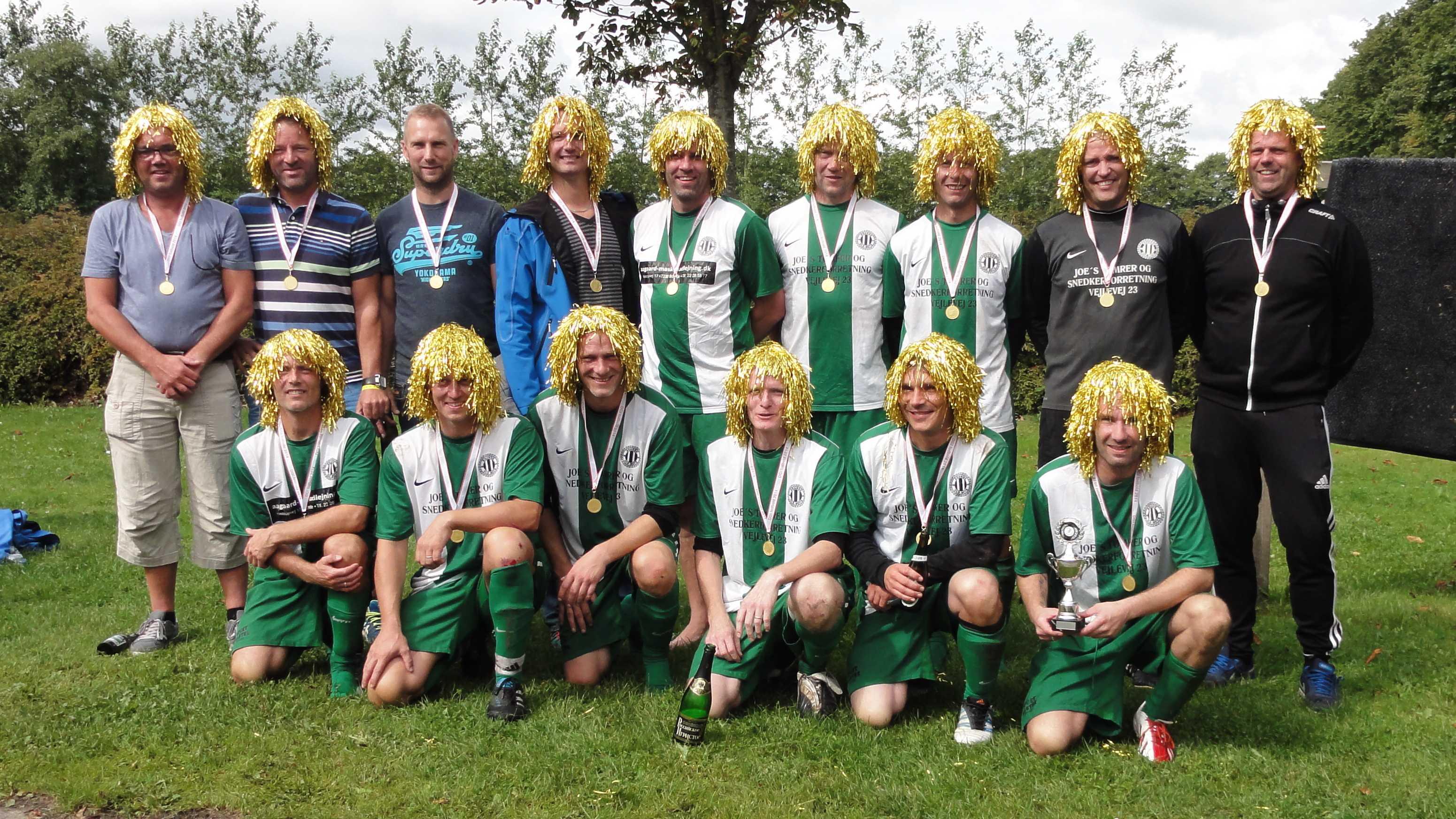 Vinder af Senior Old Boys +40 7 mands Brande old Boys